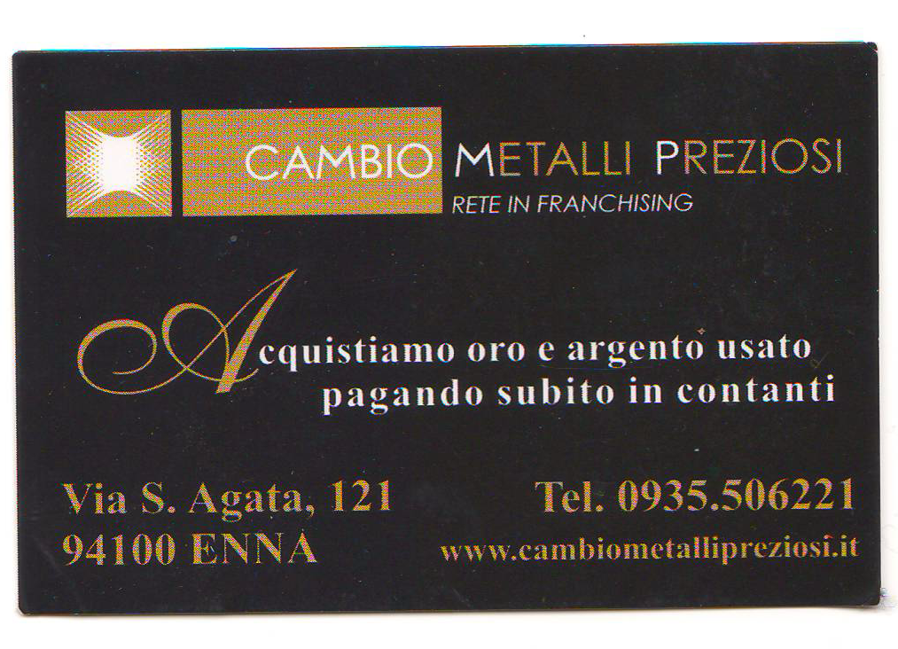 Cambio Metalli Preziosi